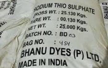 sodium thiosunfat - Na2S2O3 - SodiumThiosulphate
